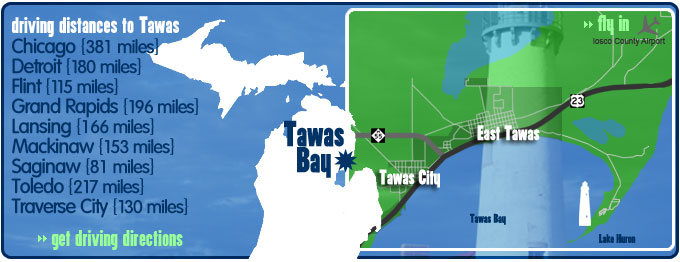 Tawas Bay Map